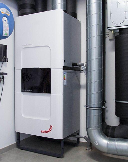 Ventilatiesysteem D met ComfoCool topkoeling