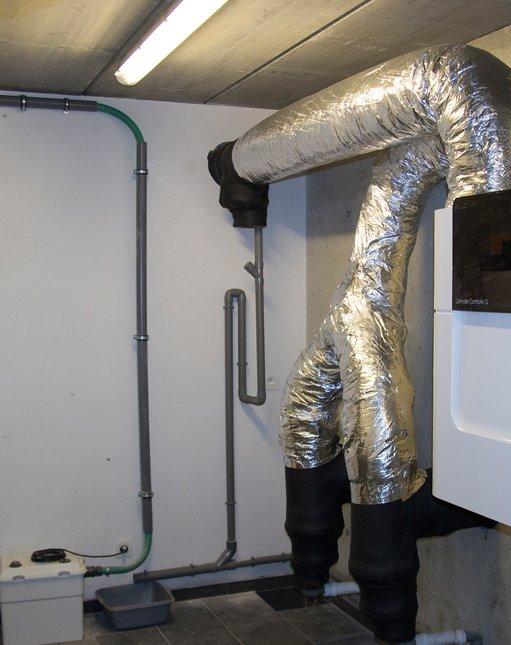 Ventilatiesysteem D met aardwarmtewisselaar